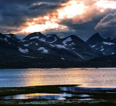 Картина Горы в Норвегии