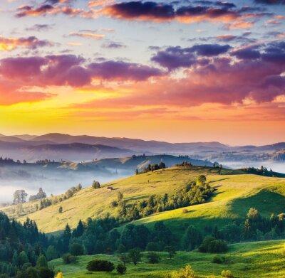 Картина горы пейзаж