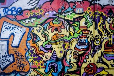 Картина Стена де граффити весело
