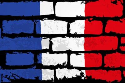Картина мур Flaga francji Wektor