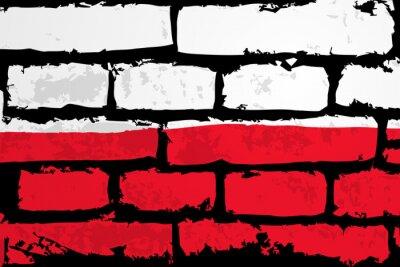 Картина мур Flaga Polska Wektor