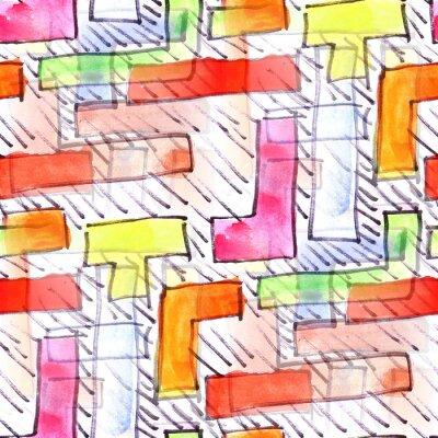 Картина Фреска цветной полосы фона бесшовные модели
