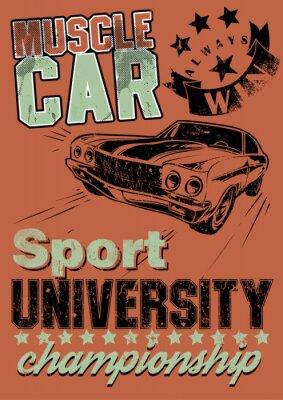 Картина Мышцы автомобилей