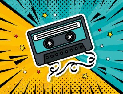 Картина music cassette pop art style vector illustration design