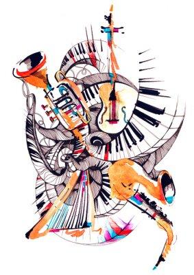 Картина музыкальные инструменты