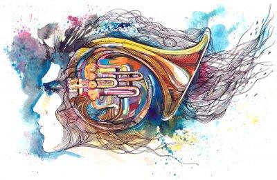 Картина музыкант