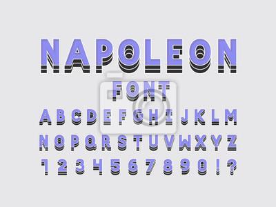 Napoleon font. Vector alphabet
