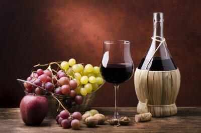 Картина Натура Морта кон фиаско ди вино efrutta