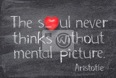 never thinks Aristotle