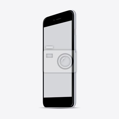 Новые реалистичные макетах мобильный телефон смартфон стиль коллекции с пустой экран, изолированных на белом фоне. Векторная иллюстрация. для печати и веб-сайтов, игр и приложений макете.