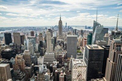 Картина Нью-Йорка Манхэттена Midtown здания горизонта вид