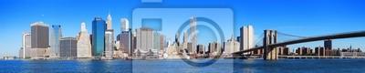 Нью-Йорк Манхэттена горизонты Панорама
