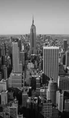 Нью-Йорк Панорама черный и белый
