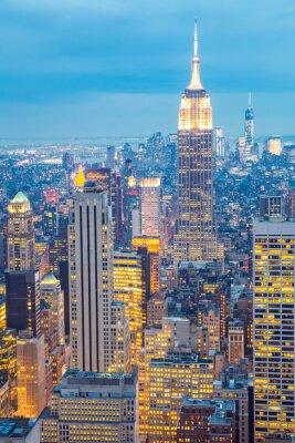 Картина Нью-Йорк горизонт сумерках США