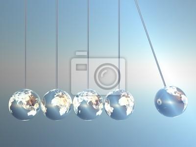 Ньютон колыбель маятники в Землю-Look