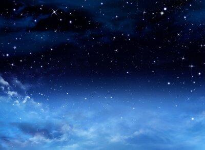 Картина Night sky with stars