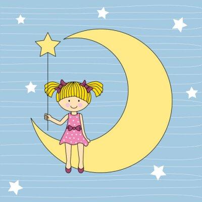 Картина Нинья ан La Luna Sentada