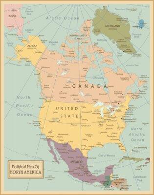 Картина Северная Америка-высоко детализированные map.Layers используемые