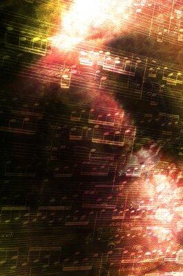 Картина Noten мит abstraktem Hintergrund
