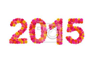 Номера 2015, изготовленные из циннии цветов