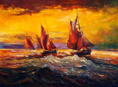 Картина Океан и корабль