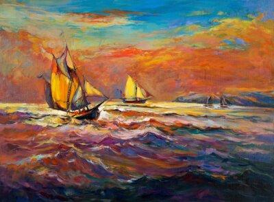 Картина Ocean and ship