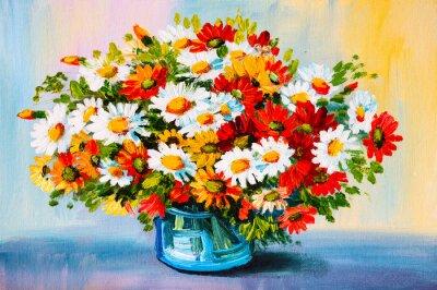 Картина Картина маслом - натюрморты, букет цветов