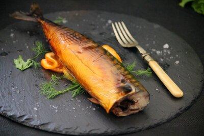 Картина жирная рыба