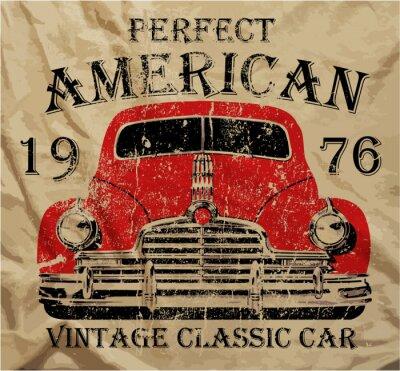 Картина Старый американский автомобиль Винтаж майка Графический дизайн
