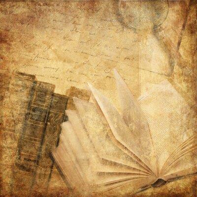 Картина старые книги