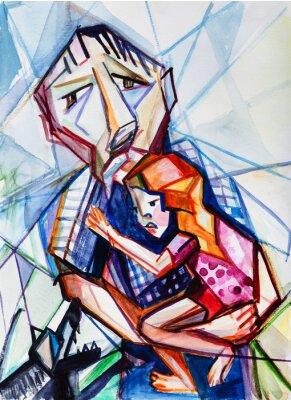Картина Старик и девочка