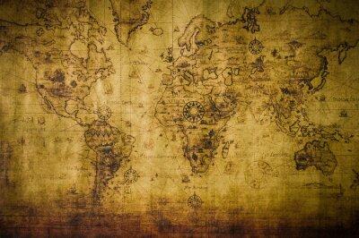 Картина старая карта