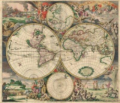 Картина Старая карта (1689)