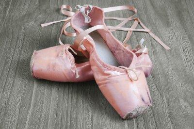 Картина старые розовые балетки