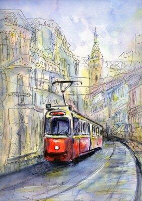Картина Старый трамвай