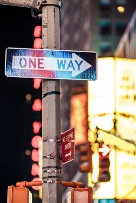 Картина Один из способов Нью-Йорк дорожный знак