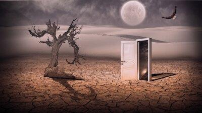 Картина Откройте дверь показать как-то полупрозрачную пространство сцены в stráň