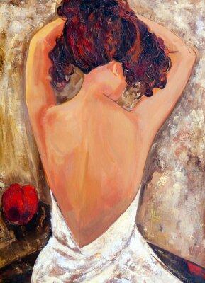 Картина Противоположной стороне красоты (масляной живописи)