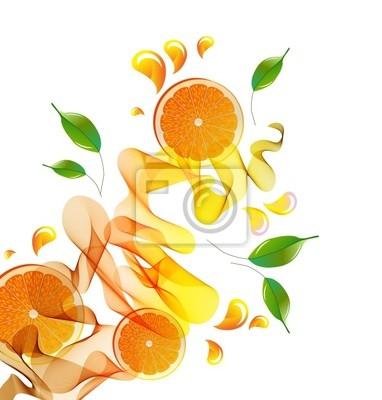 Апельсиновый сок всплеск