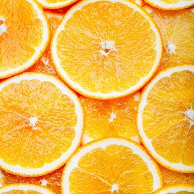 Картина Оранжевый фон ломтиками