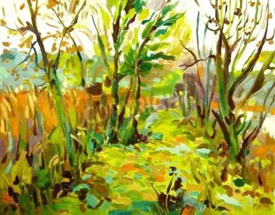 Картина Оригинал картины маслом пейзаж с деревом