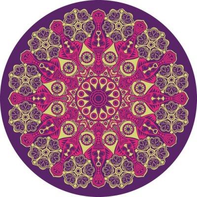 Картина декоративные кружева вокруг картины, круг фон с многими Detai