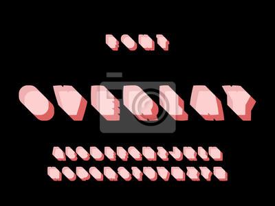 Overlay font. Vector alphabet