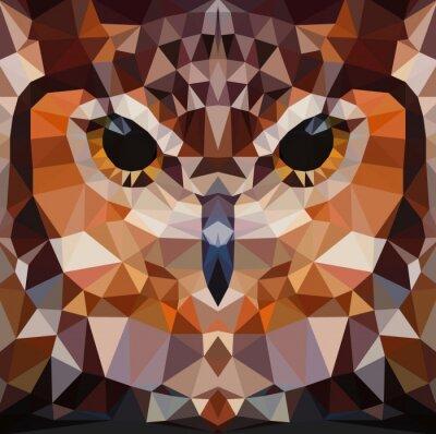Картина Сова фон глава вектор геометрический рисунок