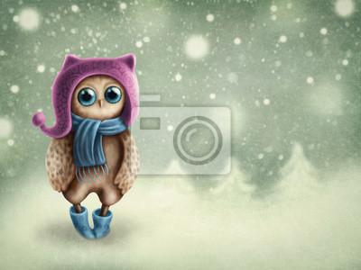 Сова в зимний период