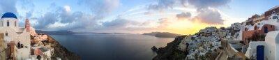 Картина Panorama à à Ия Санторин, Cyclades ле-ан-Grèce