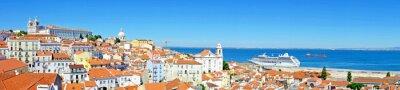 Картина Панорама из Лиссабона в Португалии