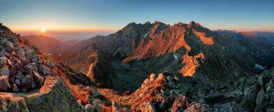 Картина Панорама горы Осенний пейзаж
