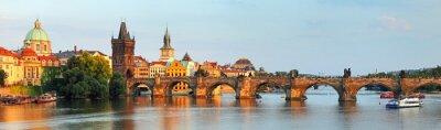Картина Panorama of Charles bridge in Prague, Czech republic