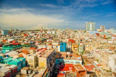 Картина Panorama of Havana city Vedado District